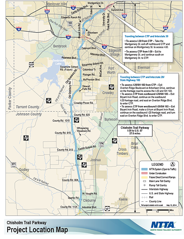 So Whats The Scoop About The New Chisholm Trail Parkway Toll Road - Chisholm trail map